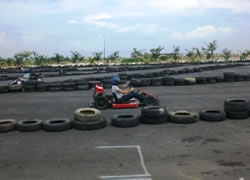 Gokart in Golden Beach Bengkong Batam Island