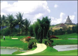 Golf Recreation in South Link Country Club Batam